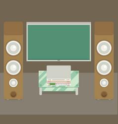 Home cinema flat style vector