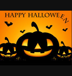 Happy halloween card with jack-o-lantern vector