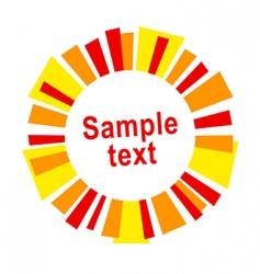 sun frame or label vector image