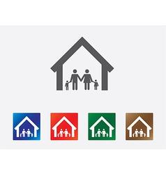 Family set icon vector image