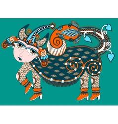 ukrainian tribal art in karakoko style ethnic vector image