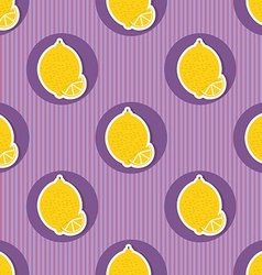 Lemon pattern seamless texture with ripe lemons vector