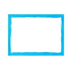 Bright blue grunge frame vector image