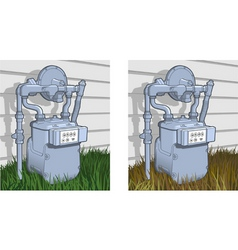 Natural gas meter vector