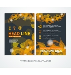 Flyer design templates abstract geometric orange vector