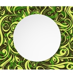Round banner with copy space area vector