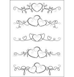 elegant valentine design vector image