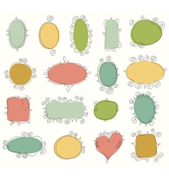 Collection of doodle frames vector