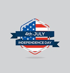 Independence day badge flat design vector