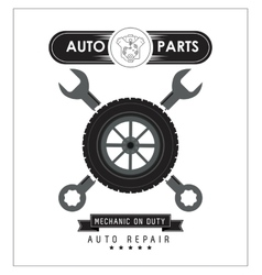 Wrench icon auto part design graphic vector