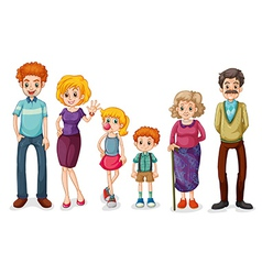 A big happy family vector image vector image