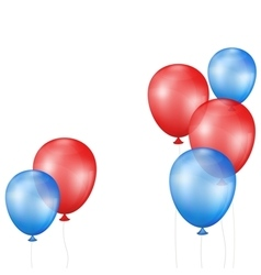 Balloons on a white background vector image vector image