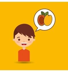 boy smiling cartoon icon design vector image