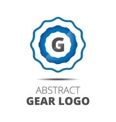 Business Abstract Gear logo vector image vector image