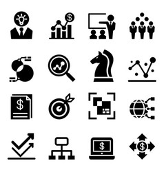 business analysis icon vector image vector image