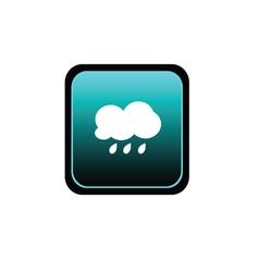 button of rain vector image vector image