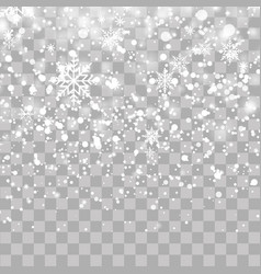 christmas background with falling snowflakes vector image