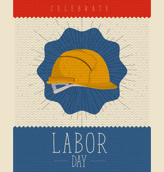 color poster with zigzag lines and helmet vector image