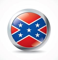 Confederate flag button vector