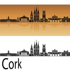 Cork skyline in orange vector image vector image