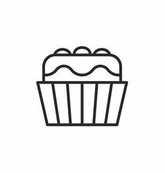 cupcakes icon vector image vector image