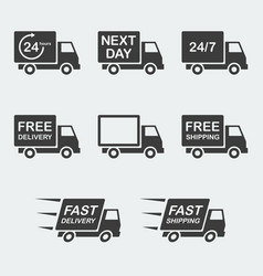 delivery icon set vector image vector image