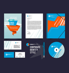 Different business identity elements set corporal vector