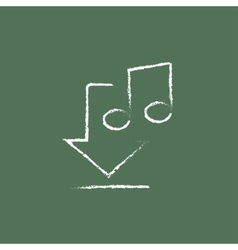 Download music icon drawn in chalk vector image vector image