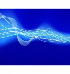 glowing water waves vector image vector image