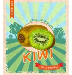 Kiwi retro poster vector image
