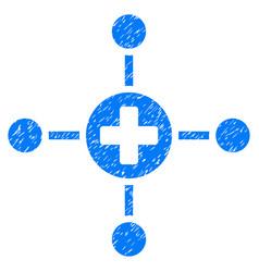 Medical center grunge icon vector