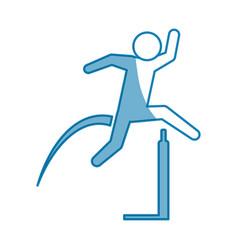 pictogram man practice athletics sport vector image vector image