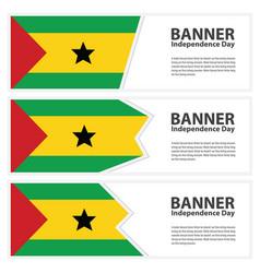 Sao tome and principe flag banners collection vector