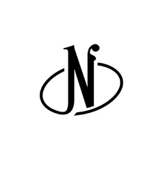 Sign the letter N vector image