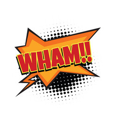 Wham comic word vector