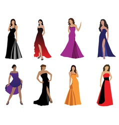 Woman in beautiful dress vector