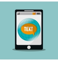 Mobile phone messaging image vector
