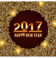 New Year 2017 celebration background vector image