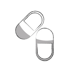 Capsule medical isolated icon vector