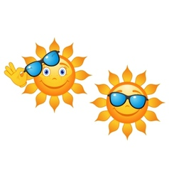 Funny sun in sunglasses vector