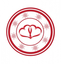 Heart stamp vector