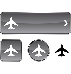 Aircraft button set vector