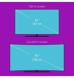 Two types of tv screen vector