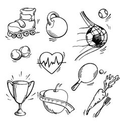 Set of sport icon vector image