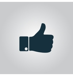 Like icon hand icon vector