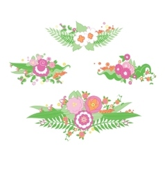 Wedding colorful flower bouquet vector