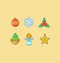 Christmas Icons 3 Flatten vector image