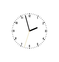 Clock on a white background vector