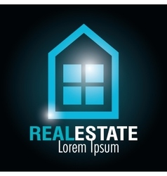 Real estate company design vector