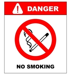 No smoking no open flame fire open ignition vector